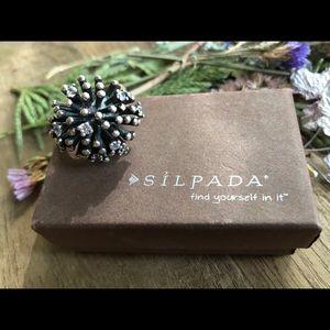 Silpada sterling silver Starburst Ring